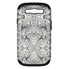 Drawing Floral Doodle 1 Samsung Galaxy S Iii Hardshell Case (pc+silicone)