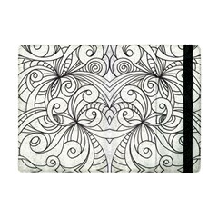 Drawing Floral Doodle 1 Apple iPad Mini Flip Case