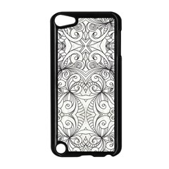 Drawing Floral Doodle 1 Apple iPod Touch 5 Case (Black)