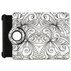 Drawing Floral Doodle 1 Kindle Fire HD 7  (1st Gen) Flip 360 Case