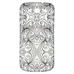 Drawing Floral Doodle 1 Samsung Galaxy S3 S III Classic Hardshell Back Case