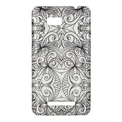 Drawing Floral Doodle 1 HTC One SU T528W Hardshell Case