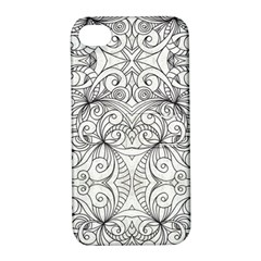 Drawing Floral Doodle 1 Apple Iphone 4/4s Hardshell Case With Stand