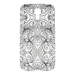 Drawing Floral Doodle 1 Samsung Galaxy S4 I9500/i9505 Hardshell Case