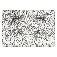 Drawing Floral Doodle 1 Samsung Galaxy Tab 10.1  P7500 Flip Case