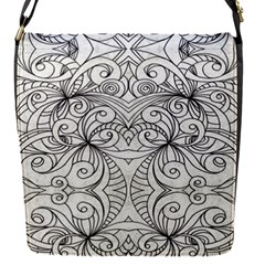 Drawing Floral Doodle 1 Removable Flap Cover (small)
