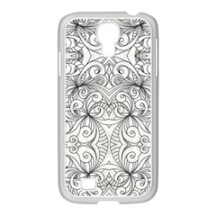 Drawing Floral Doodle 1 Samsung Galaxy S4 I9500/ I9505 Case (white)