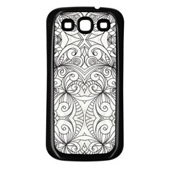Drawing Floral Doodle 1 Samsung Galaxy S3 Back Case (black)