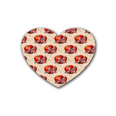 Vintage Valentine Hearts Drink Coasters 4 Pack (Heart)