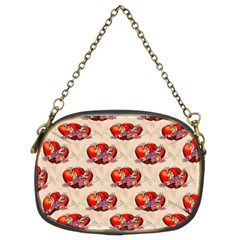 Vintage Valentine Hearts Chain Purse (Two Sided)
