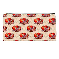 Vintage Valentine Hearts Pencil Case