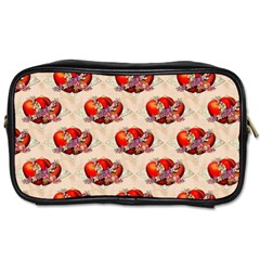Vintage Valentine Hearts Travel Toiletry Bag (One Side)