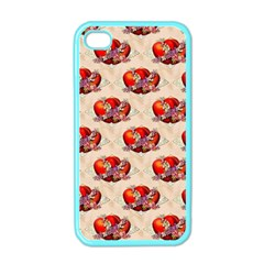 Vintage Valentine Hearts Apple iPhone 4 Case (Color)