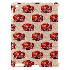 Vintage Valentine Hearts Apple iPad 3/4 Hardshell Case (Compatible with Smart Cover)