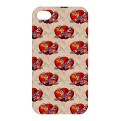 Vintage Valentine Hearts Apple iPhone 4/4S Premium Hardshell Case