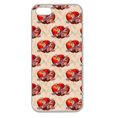 Vintage Valentine Hearts Apple Seamless iPhone 5 Case (Clear)