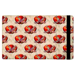 Vintage Valentine Hearts Apple iPad 2 Flip Case