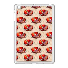 Vintage Valentine Hearts Apple iPad Mini Case (White)