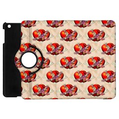 Vintage Valentine Hearts Apple iPad Mini Flip 360 Case