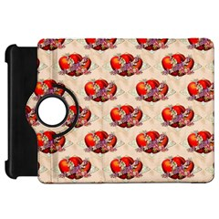 Vintage Valentine Hearts Kindle Fire HD 7  (1st Gen) Flip 360 Case