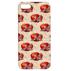 Vintage Valentine Hearts Apple iPhone 5 Hardshell Case with Stand
