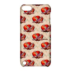 Vintage Valentine Hearts Apple iPod Touch 5 Hardshell Case with Stand