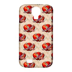Vintage Valentine Hearts Samsung Galaxy S4 Classic Hardshell Case (PC+Silicone)