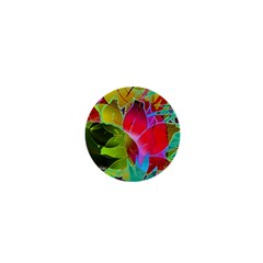 Floral Abstract 1 1  Mini Button Magnet