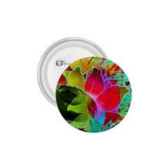 Floral Abstract 1 1.75  Button