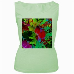 Floral Abstract 1 Women s Tank Top (green)