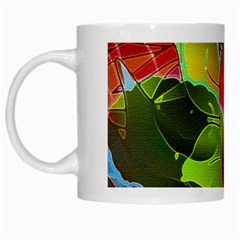 Floral Abstract 1 White Coffee Mug