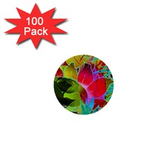 Floral Abstract 1 1  Mini Button (100 pack)