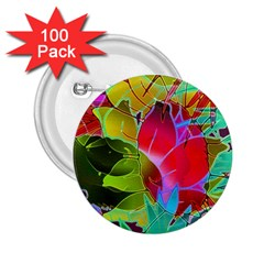 Floral Abstract 1 2 25  Button (100 Pack)