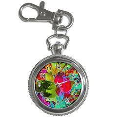 Floral Abstract 1 Key Chain & Watch