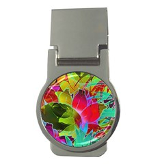 Floral Abstract 1 Money Clip (Round)