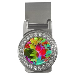 Floral Abstract 1 Money Clip (cz)