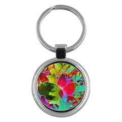 Floral Abstract 1 Key Chain (Round)