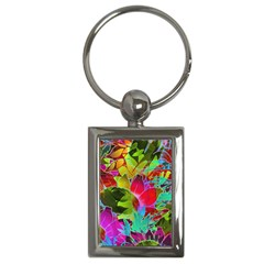 Floral Abstract 1 Key Chain (rectangle)