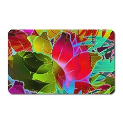 Floral Abstract 1 Magnet (Rectangular)