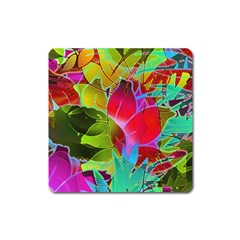 Floral Abstract 1 Magnet (square)