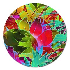 Floral Abstract 1 Magnet 5  (round)
