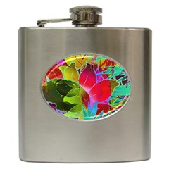 Floral Abstract 1 Hip Flask