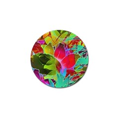 Floral Abstract 1 Golf Ball Marker 4 Pack