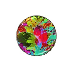 Floral Abstract 1 Golf Ball Marker 4 Pack (for Hat Clip)