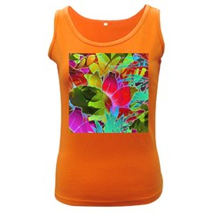 Floral Abstract 1 Women s Tank Top (dark Colored)