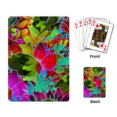 Floral Abstract 1 Playing Cards Single Design