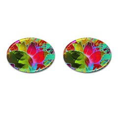 Floral Abstract 1 Cufflinks (Oval)