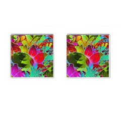 Floral Abstract 1 Cufflinks (Square)