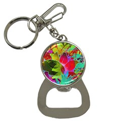 Floral Abstract 1 Bottle Opener Key Chain