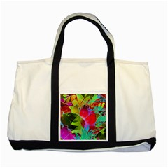 Floral Abstract 1 Two Toned Tote Bag
